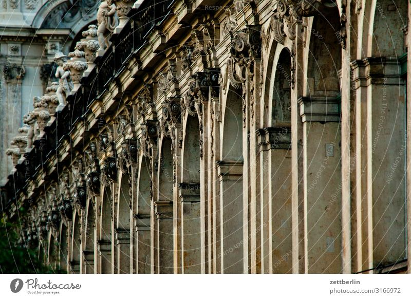 baroque Old town Ancient Architecture Baroque Dresden Classical Culture Capital city Vacation & Travel Travel photography Saxony Town City trip Tourism Zwinger
