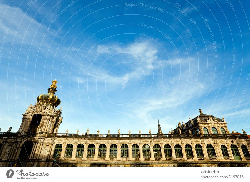Dresden Kennel Zwinger crown gate Gallery Orangerie Castle Old town Architecture Capital city Vacation & Travel Travel photography Saxony Town City trip Tourism