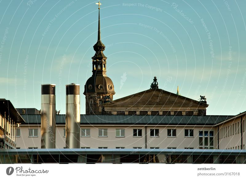 Dresden mix Saxony Capital city House (Residential Structure) Building Architecture Facade Window Mixture Panorama (View) State parliament Semper Opera
