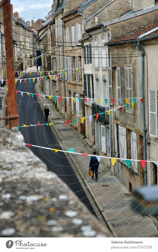 A small alley France Village Populated House (Residential Structure) Facade Street Going Walking Living or residing Historic Beautiful Multicoloured Contentment