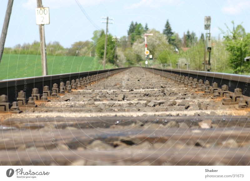 railroad Railroad tracks Transport railway line