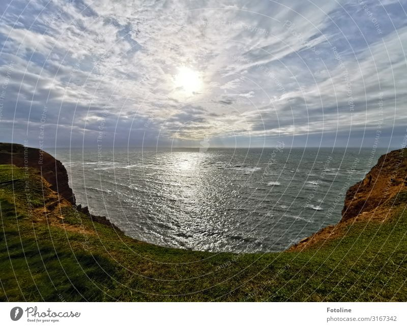Heligoland Environment Nature Landscape Plant Elements Earth Water Sky Clouds Grass Rock Mountain Waves Coast North Sea Ocean Island Far-off places Free