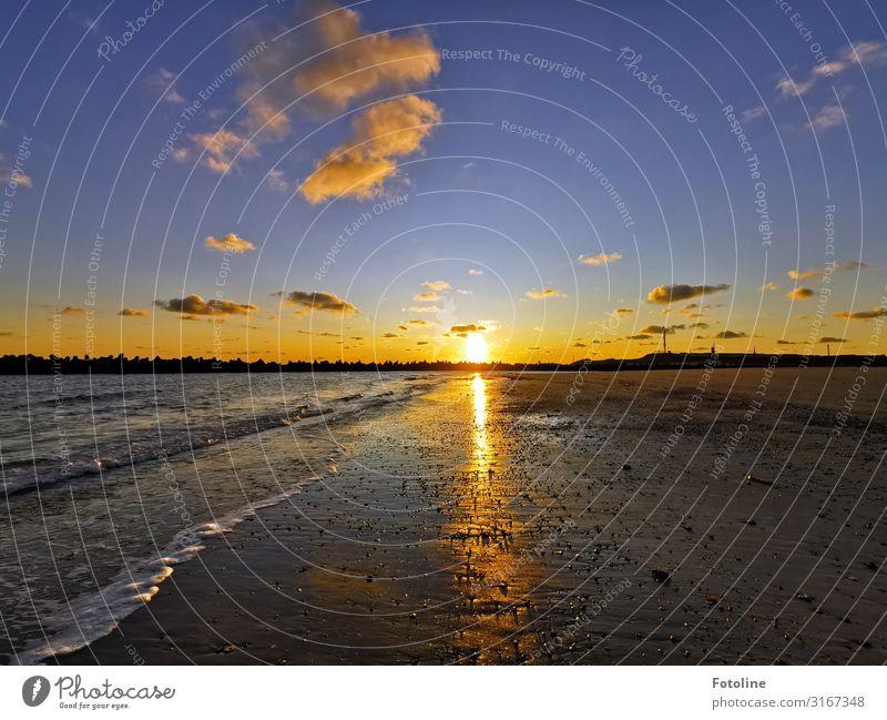 Sky Nature Blue Water Landscape Ocean Clouds Far-off places Beach Black Warmth Environment Natural Coast Orange Sand