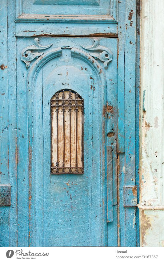blue door of a street in havana, cuba Vacation & Travel Old Blue Town House (Residential Structure) Street Architecture Lifestyle Wood Building Art Tourism Trip