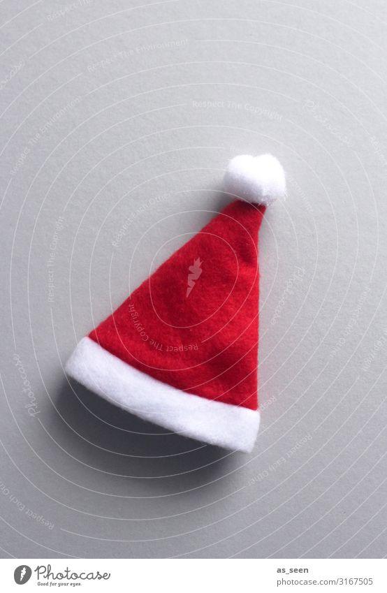 Christmas hat Feasts & Celebrations Christmas & Advent Cloth Pelt Felt Accessory Cap Santa Claus hat Lie Esthetic Brash Friendliness Happiness Bright