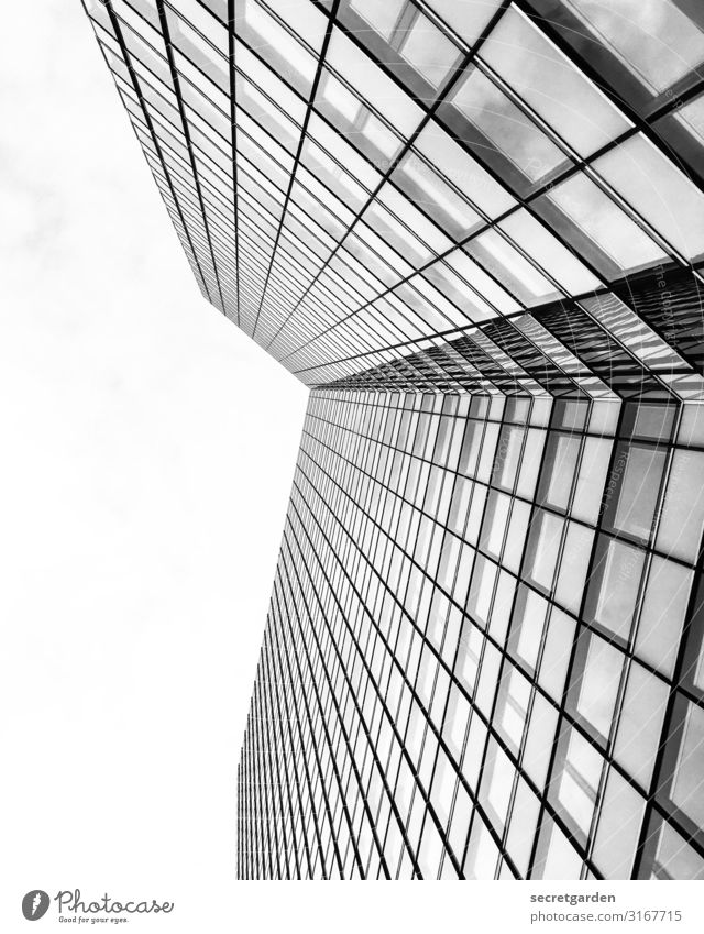 Sky Architecture Cold Building Facade Modern High-rise Glass Esthetic Perspective Large Tall Hamburg New Manmade structures Fear of heights