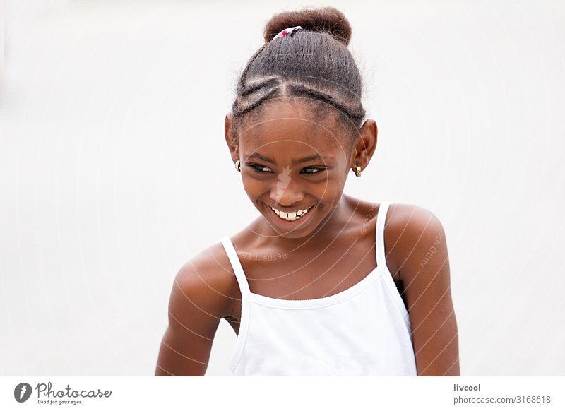 smiling girl , havana - cuba Child Human being Vacation & Travel Beautiful White Joy Girl Black Face Street Eyes Lifestyle Feminine Happy Style