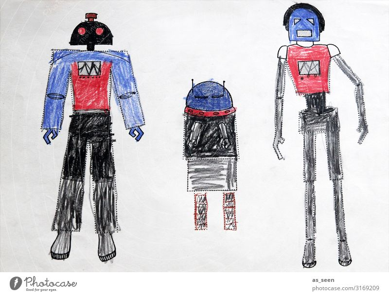 We are the robots Leisure and hobbies Playing Parenting Science & Research Kindergarten Child School Advancement Future Astronautics Body Stationery Paper