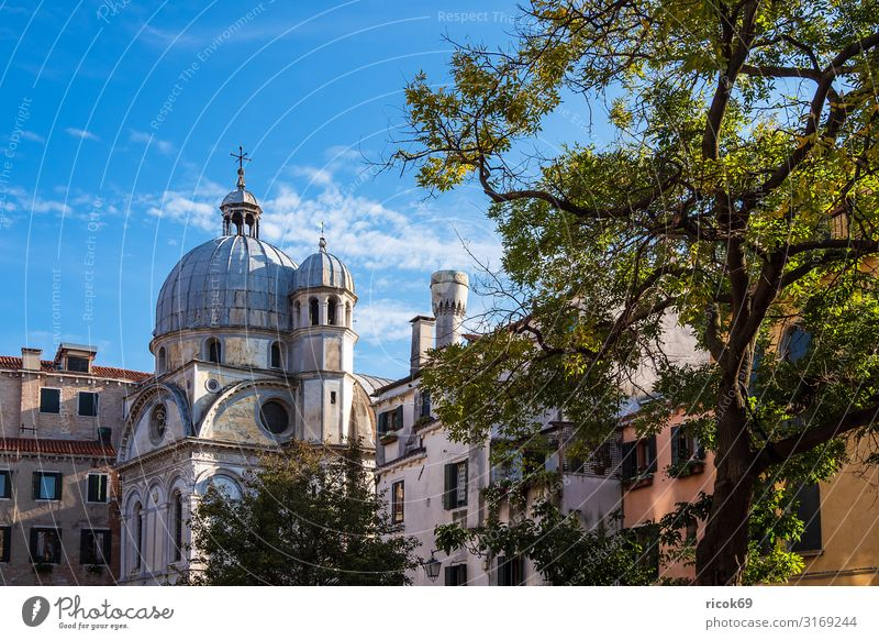 Historical buildings in the old town of Venice in Italy Vacation & Travel Tourism House (Residential Structure) Clouds Tree Town Old town Manmade structures