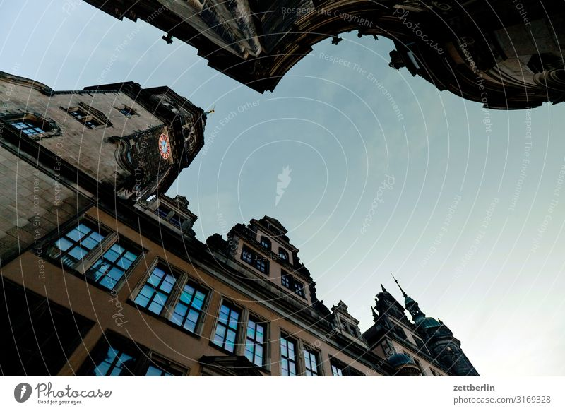Vacation & Travel Town Travel photography Window Architecture Tourism Facade Culture Capital city City trip Old town Dresden Saxony Ancient Baroque