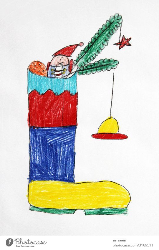 Santa's boots Fruit Candy Flat (apartment) Children's room Christmas & Advent Parenting Kindergarten Infancy Art Youth culture Fir branch Boots Hang Stand