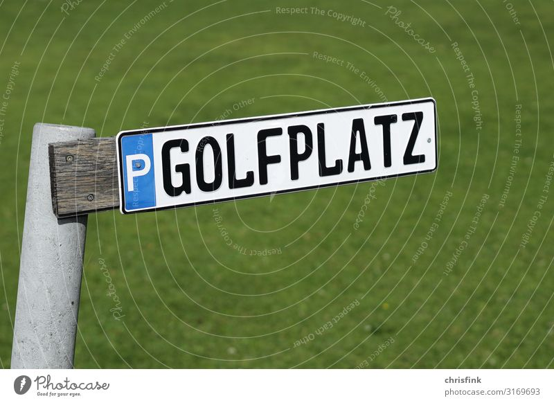 Golf course parking sign Leisure and hobbies Playing Summer Sports Nature Landscape Grass Sex Sexuality Thrifty Joy Parking lot Signs and labeling Luxury