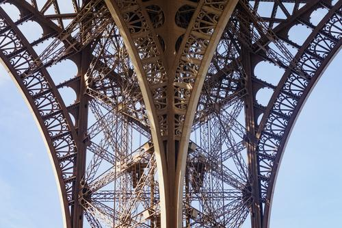 Old Exceptional Retro Esthetic Tower Steel Paris Arch Eiffel Tower Steel carrier Continuity