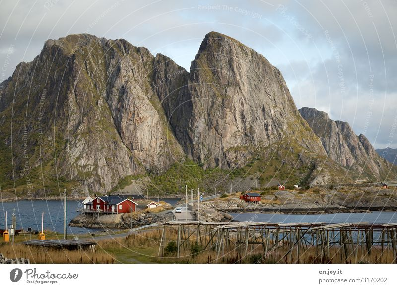 Sky Vacation & Travel Nature Landscape House (Residential Structure) Mountain Environment Tourism Rock Trip Idyll Adventure Beautiful weather Hut Scandinavia