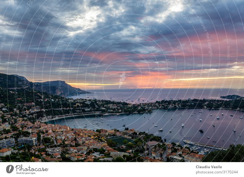 Dramatic Sunrise on the Cote d'Azur Vacation & Travel Tourism Trip Sightseeing Summer Summer vacation Sunbathing Beach Environment Nature Landscape Sky Clouds