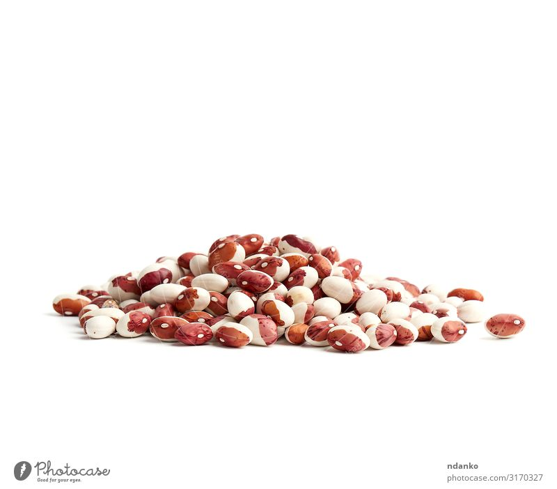 bunch of raw white-red beans Vegetable Fruit Nutrition Vegetarian diet Nature Small Natural Brown Red White Beans Raw food healthy Organic Ingredients