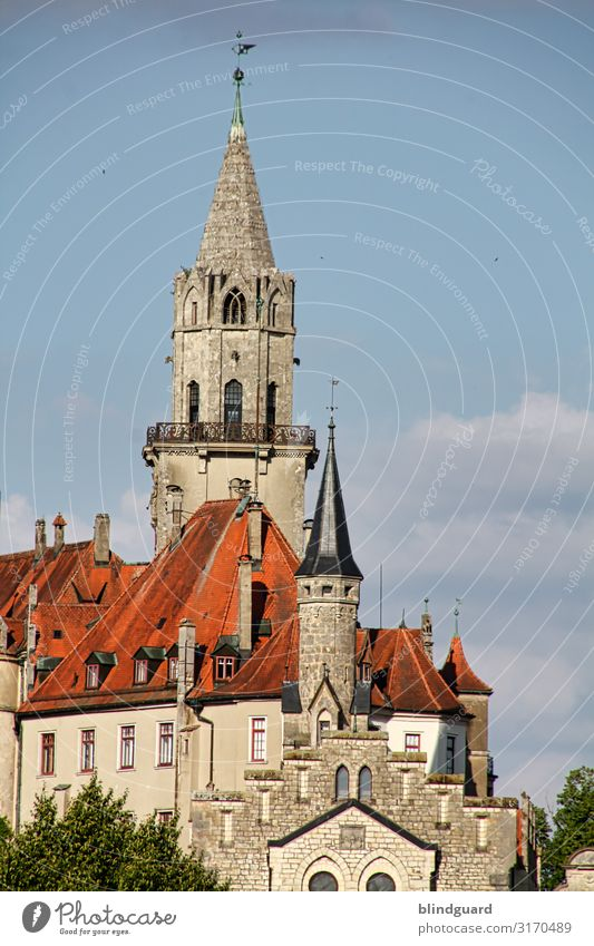 Sigmaringen Castle Vacation & Travel Tourism Trip Sightseeing City trip Flat (apartment) Architecture Culture Tower Manmade structures Building Wall (barrier)