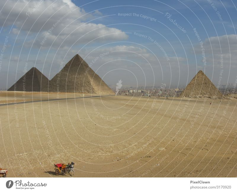 Pyramids of Giza Lifestyle Vacation & Travel Tourism Trip Adventure Far-off places Human being 1 Desert Manmade structures Building Architecture