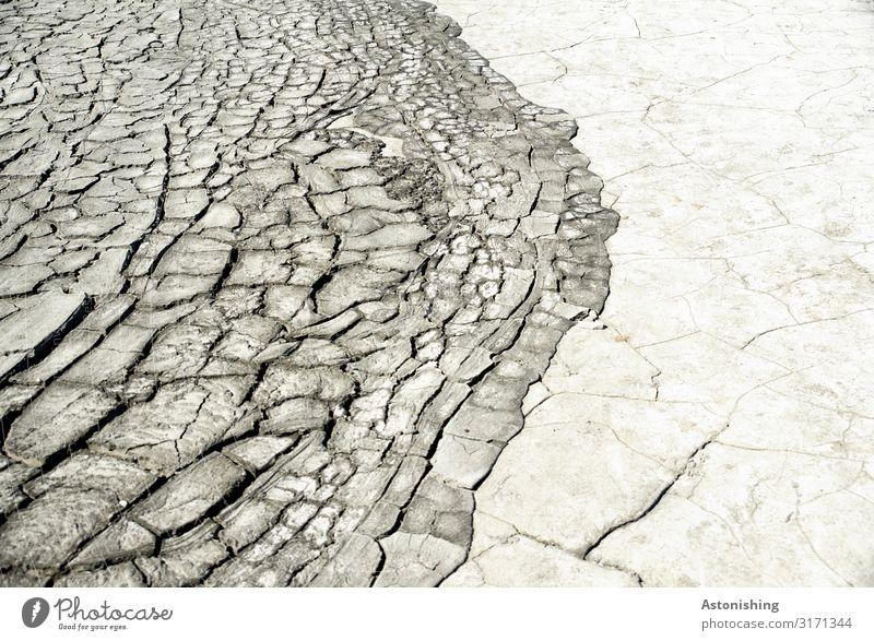 dry mud Environment Earth Sand Summer Drought Berca Norosiosi Romania Stone Gloomy Dry Brown Gray Border Crack & Rip & Tear Lunar landscape Exotic