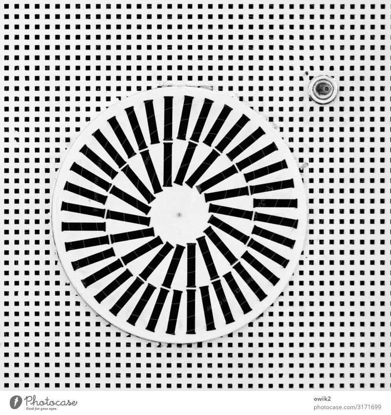 air condition Technology Air conditioning Above Round Black White Bizarre Climate Complex Style Black & white photo Interior shot Detail Abstract Pattern