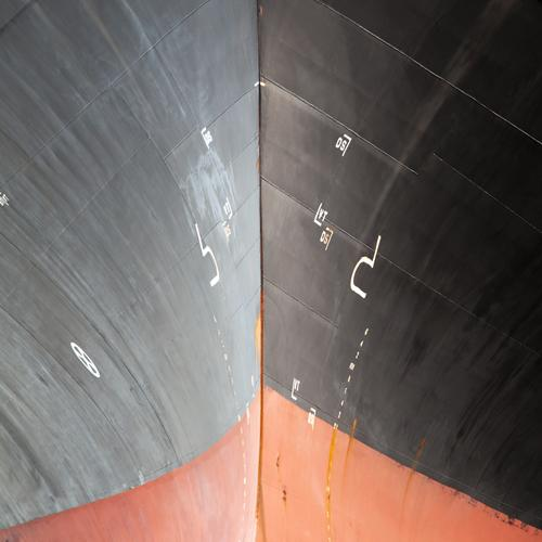 Red Black Gray Characters Power Large Sign Digits and numbers Logistics Harbour Navigation Economy Steel Sharp-edged Maritime Gigantic