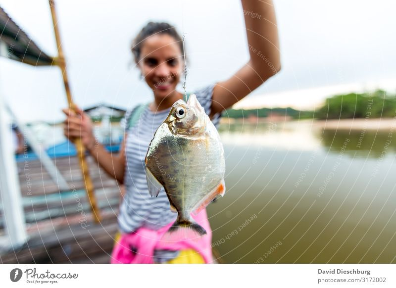 freshly caught Food Fish Organic produce Leisure and hobbies Fishing (Angle) Vacation & Travel Tourism Trip Adventure Feminine 1 Human being Nature River