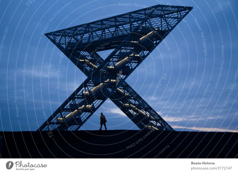 Saar polygon Energy industry Coal-mining area Nature Landscape Sky Clouds Manmade structures Architecture Tourist Attraction Landmark Saarland Monument Metal
