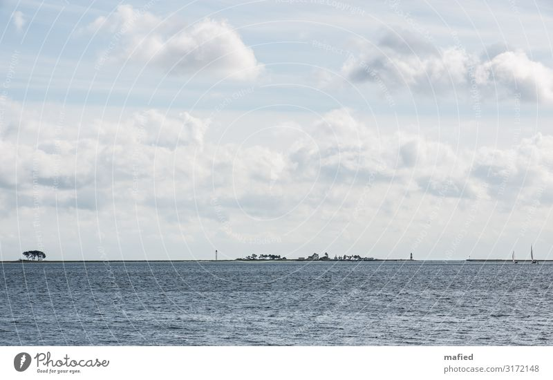 Schleimünde 2 Landscape Water Sky Clouds Autumn Beautiful weather Tree Coast Baltic Sea House (Residential Structure) Tower Lighthouse Navigation Sport boats