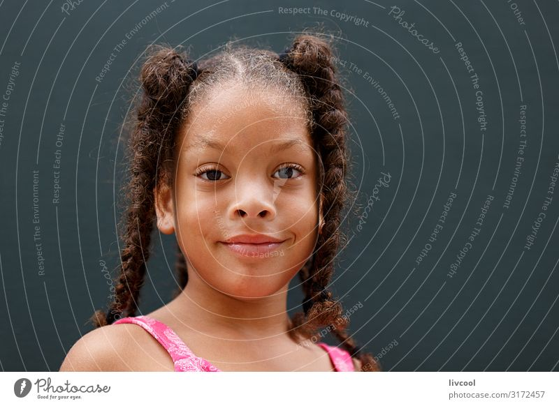 happy girl, havana - cuba Child Human being Vacation & Travel Youth (Young adults) Young woman Beautiful Joy Girl Black Face Street Eyes Lifestyle Feminine