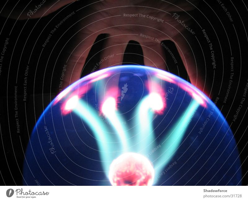 Hand Dark Lighting Glass Science & Research Sphere Lightning Plasma Lightning globe