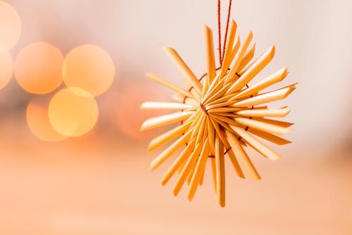 straw star Design Card Christmas & Advent Decoration Star (Symbol) Christmas star Hang Illuminate Cute Soft Brown Orange Emotions Moody Contentment Anticipation