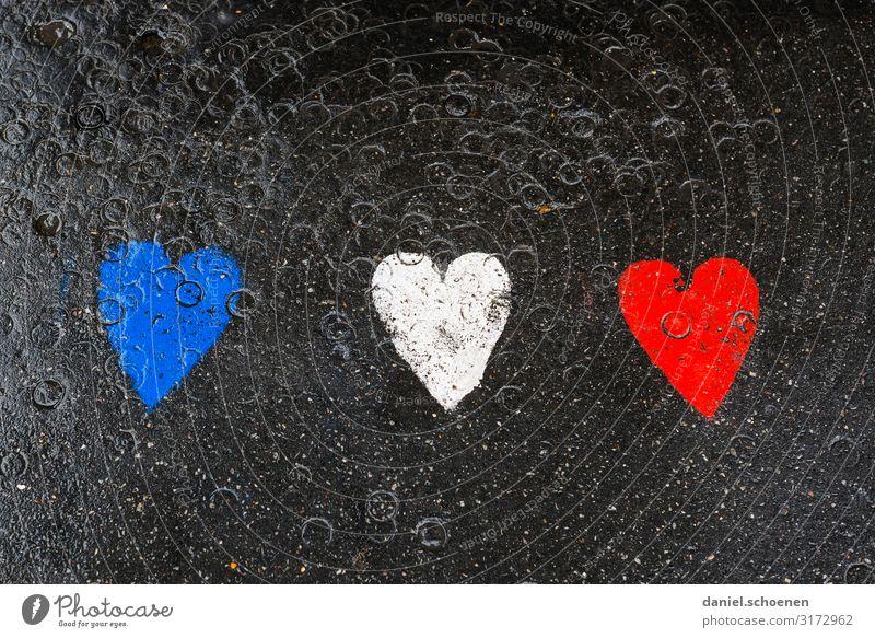 Vacation & Travel Blue White Red Black Graffiti Art Heart Sign France