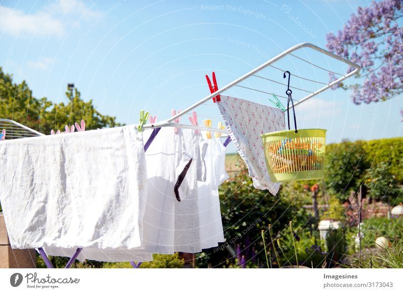 Laundry rack - rack dryer Clothes peg Environment Sky Clouds Spring Summer Climate Beautiful weather Garden House (Residential Structure) Terrace T-shirt