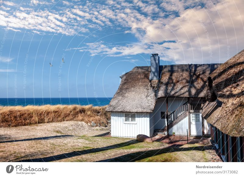 Living at the Baltic Sea Vacation & Travel Tourism Summer vacation Beach Ocean House (Residential Structure) Dream house Landscape Water Clouds Sun Spring