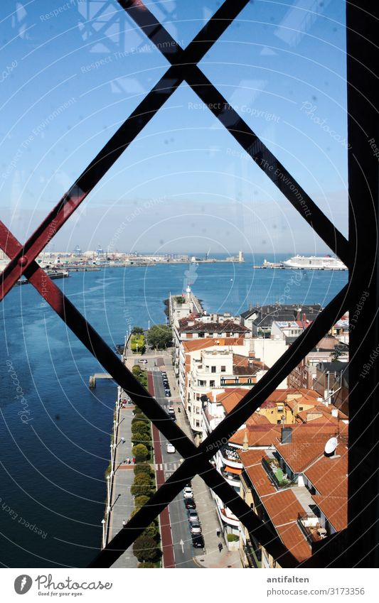 prospects Vacation & Travel Tourism City trip Summer Technology Industry Culture World heritage Bilbao Spain Village Fishing village Port City Populated Bridge