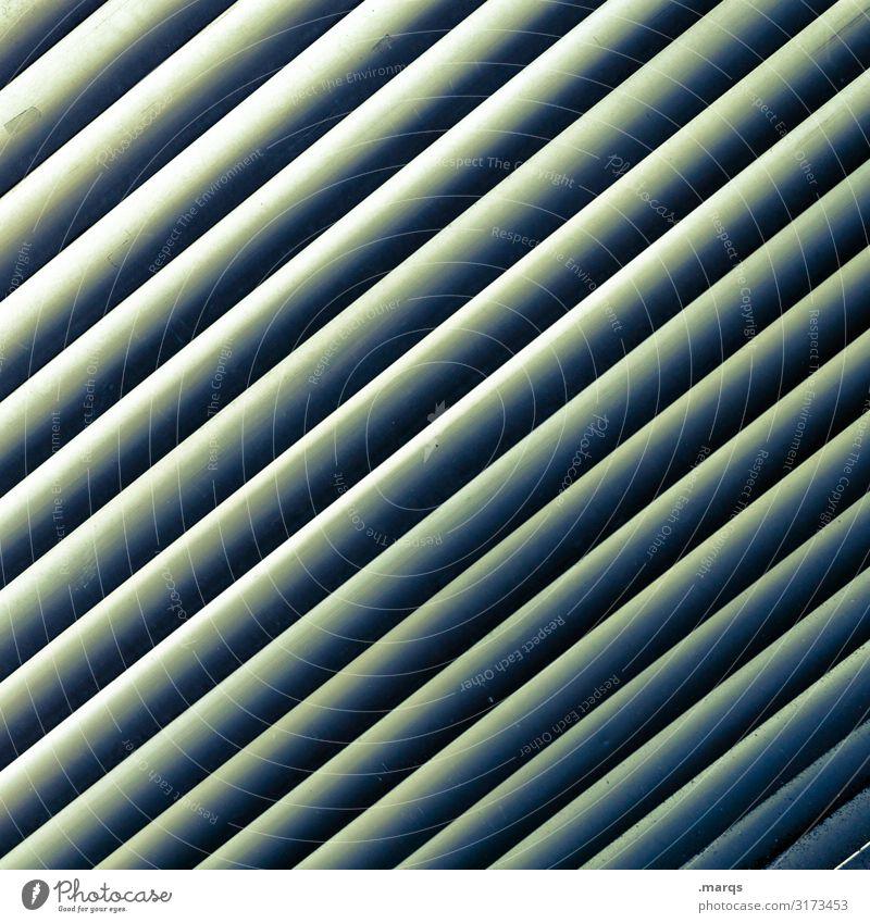 Lamella/s Screening Barrier Plastic Esthetic Cool (slang) Modern Green Arrangement Tilt Background picture Colour photo Exterior shot Close-up Abstract Pattern