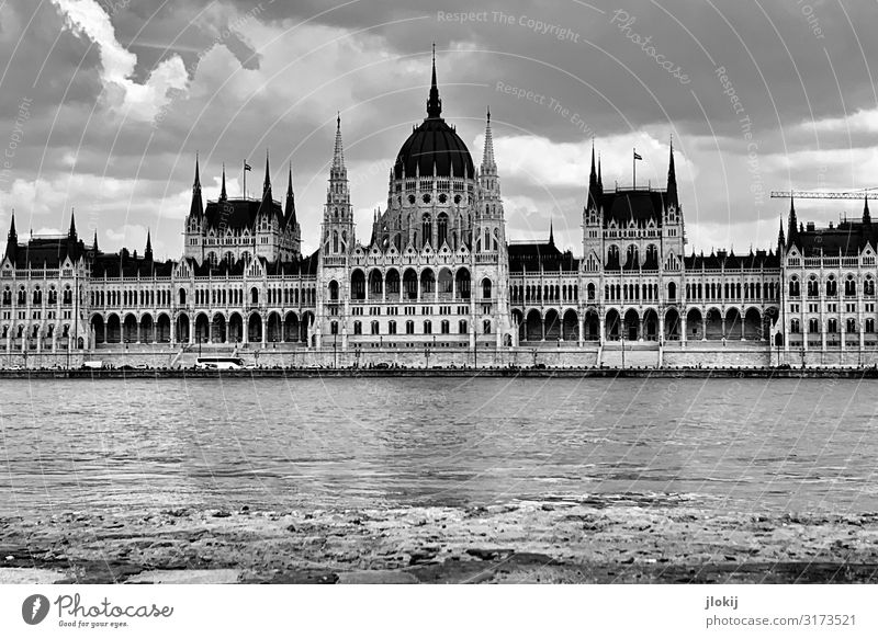 parliament Budapest Hungary Town Capital city Downtown House (Residential Structure) Palace Castle Manmade structures Building Architecture Facade Window Gable