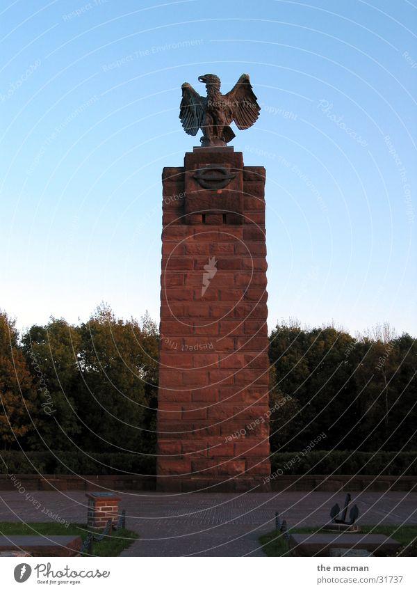 Submarine Memorial Heikendorf Monument Eagle Things Kiel Baltic Sea
