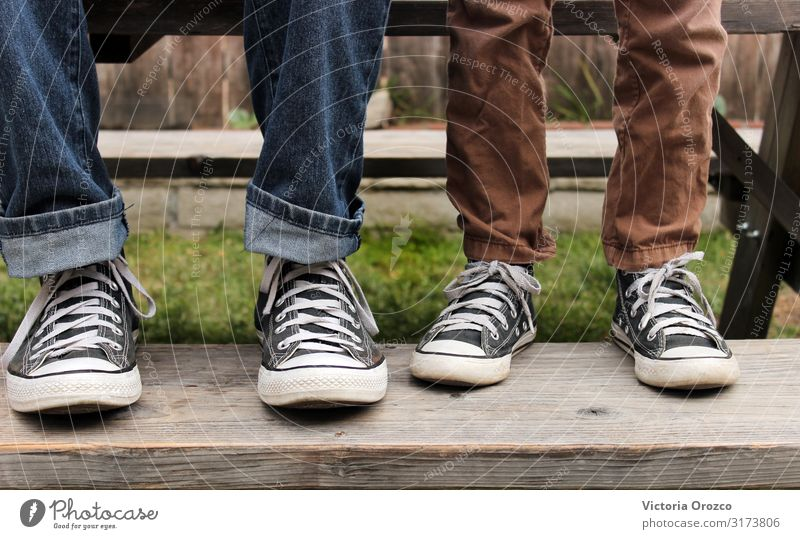 Father & Son Lifestyle Style Human being Boy (child) Adults Family & Relations Legs 2 8 - 13 years Child Infancy 30 - 45 years Youth culture Beautiful weather
