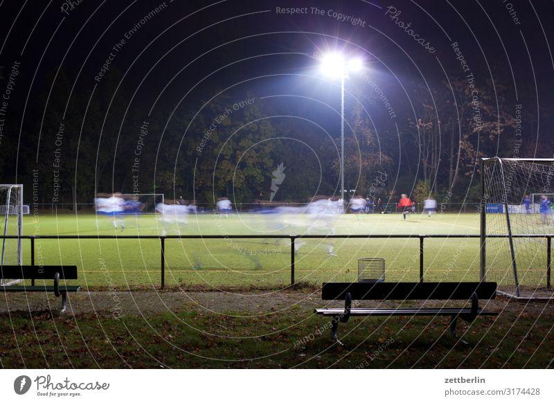 Dark Sports Playing Field Soccer Bench Playing field Grass surface Audience Floodlight Ball sports Region League