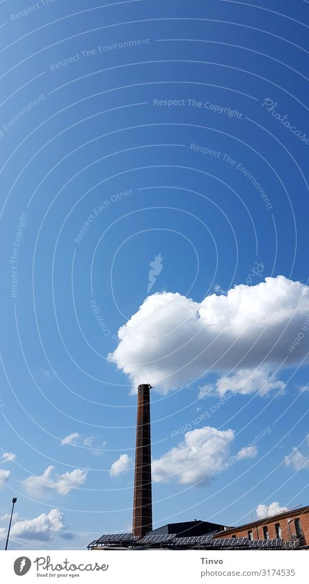 cloud factory Environment Sky Clouds Climate Climate change Beautiful weather Factory Chimney Environmental pollution Environmental protection Illusion