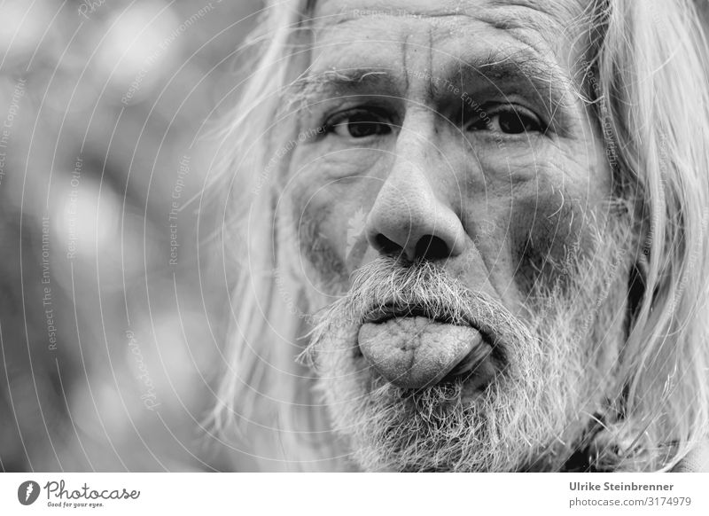 Old Hippie II Human being Masculine Man Adults Male senior Senior citizen Life Head Hair and hairstyles Face Nose Mouth Tongue 1 60 years and older Looking