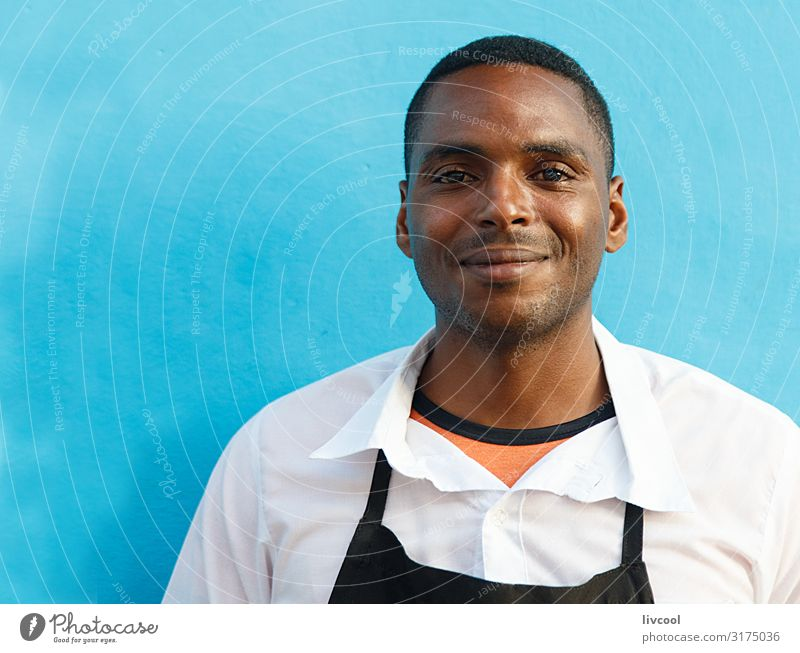 young waiter III , trinidad - cuba Lifestyle Happy Island Human being Masculine Young man Youth (Young adults) Man Adults Head Face Eyes Ear Nose Mouth Lips