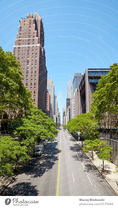 East 42nd Street in New York City on a sunny summer day. Vacation & Travel Sightseeing City trip Summer Living or residing Flat (apartment) Sky Tree Town