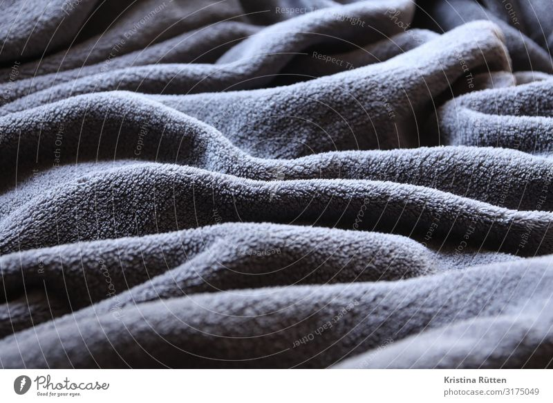 fabric landscape Waves Landscape Cloth Cuddly Soft Gray Comfortable blanket day cover crease Folds Anthracite structure Copy Space Textiles microfibre Material