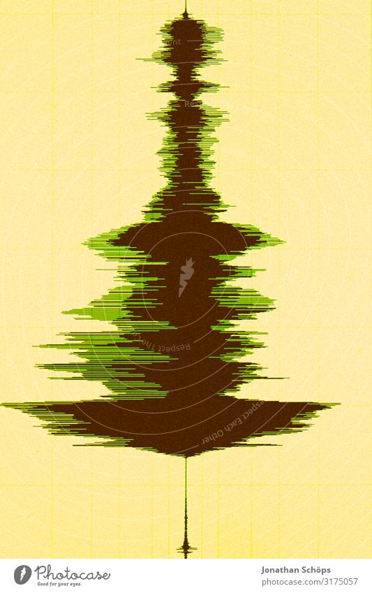 Christmas tree in wave form Christmas & Advent Anti-Christmas christmas songs Christmas decoration Tree Public Holiday Abstract Art Music Listen to music Media