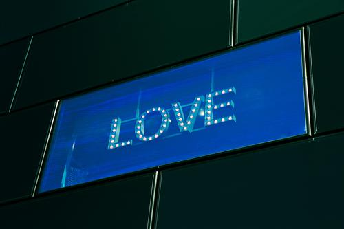 Blue Town Eroticism Window Black Yellow Love Happy Exceptional Facade Design Illuminate Modern Characters Sex Authentic