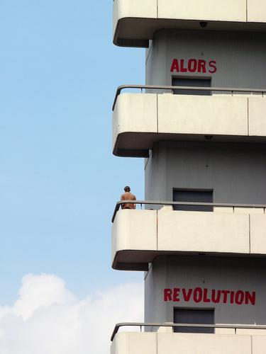 ALORS REVOLUTION - UNI BREMEN Human being Man Adults Youth (Young adults) Life 1 Bremen High-rise Manmade structures Building Architecture Academic studies