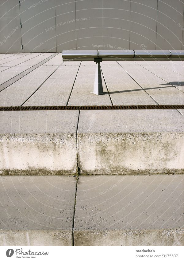 concrete dreary grey deserted bench Architecture Concrete Gloomy Gray Town Bench Pattern Structures and shapes Deserted