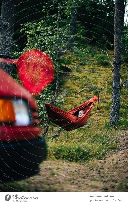camper, hammock, landing net, all i ever wanted is red red red Lifestyle Leisure and hobbies Vacation & Travel Tourism Trip Adventure Far-off places Freedom